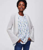 LOFT Ribbed Flare Sleeve Open Cardigan