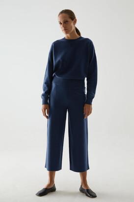 Cos Merino Wool Wide-Leg Trousers