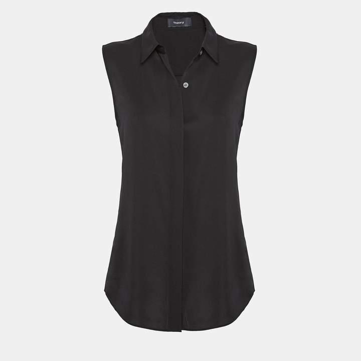 Theory Silk Sleeveless Shirt