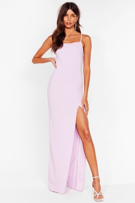 Nasty Gal Womens It's a Long Story Slit Maxi Dress - Lilac