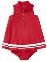 Ralph Lauren Childrenswear Mesh Nautical Two-Piece Polo Dress and Bloomer Set