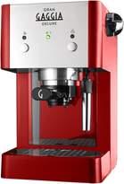 Gaggia Gran Deluxe Espresso Machine Red