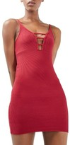 Topshop Women's Strappy Ribbed Body-Con Dress