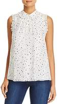 Kate Spade Night Sky Metallic Print Top