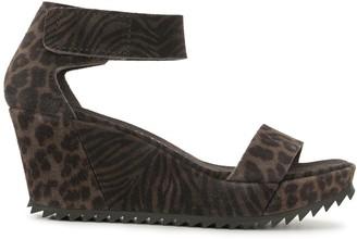 Pedro Garcia Fidelia leopard-print wedge sandals