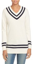Frame Wool & Cashmere Varsity Sweater