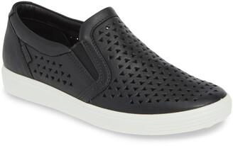 Ecco Soft 7 Laser Cut Slip-On Sneaker