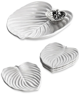 Michael Aram Hosta Chip & Dip and Set of 4 Canape Plates