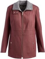 Kenneth Cole Mauve Pocket Wool-Blend Zip-Up Jacket