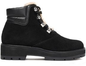 3.1 Phillip Lim Dylan Shearling-lined Suede And Leather Ankle Boots