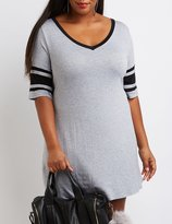 Charlotte Russe Plus Size Varsity Stripe T-Shirt Dress