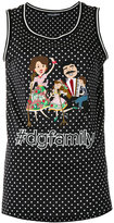 Dolce & Gabbana #dgfamily patch tank top - women - Cotton - 40