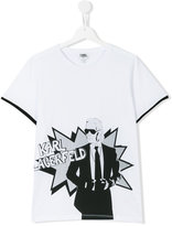Karl Lagerfeld Teen printed T-shirt - kids - Cotton - 14 yrs