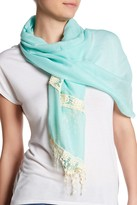 David & Young Lace Embroidered Scarf