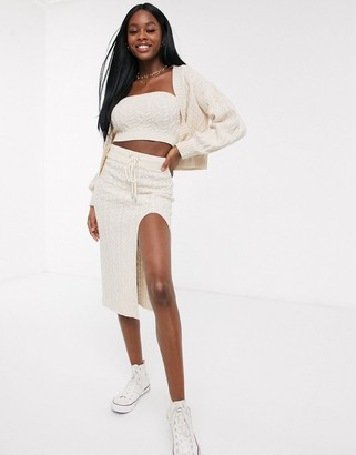 Skylar Rose pencil skirt in cable knit co-ord