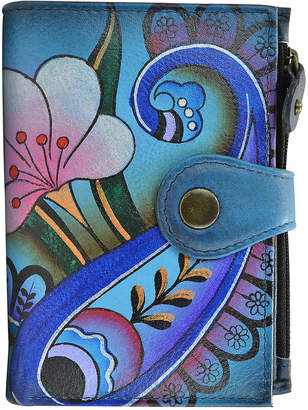 Anuschka Anna By Anna by Women's Wallets Denim - Denim Paisley Floral Hand-Painted Leather Wallet