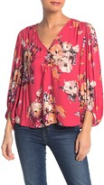 Love Stitch Floral Blouson Sleeve Top