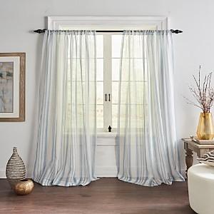 Elrene Home Fashions Hampton Striped Sheer Curtain Panel, 52 x 84