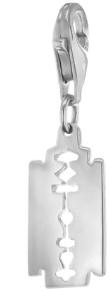 True Rocks Sterling Silver Small Razor Blade Charm