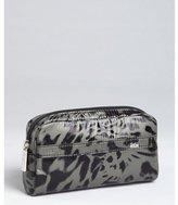 Kooba dark forest green nylon cosmetic pouch