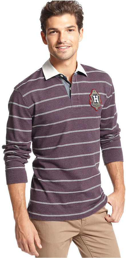Tommy Hilfiger Shirt, Long Sleeve Breaker Rugby Shirt
