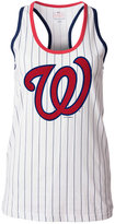 5th & Ocean Women's Washington Nationals Pinstripe Glitter Tank Top