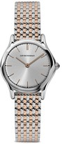 Emporio Armani Swiss Made Stainless Steel Link Bracelet Watch, 28mm