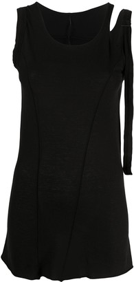 Masnada Cut-Out Detail Side Buckle Vest Top