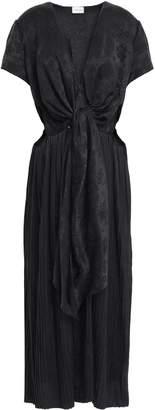 Magda Butrym Shanghai Cutout Silk Satin-jacquard Midi Dress