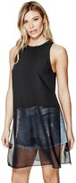GUESS Isabelle Sheer Overlay Tank