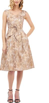 Kay Unger Sleeveless Jacquard Mini Dress