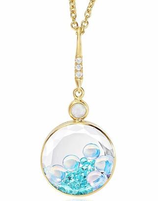 Moritz Glik Tourmaline Opal and Diamond Shaker Necklace