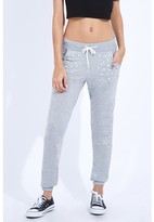 Select Fashion Fashion Pearl Embellished Jogger Sweatpants - size 6