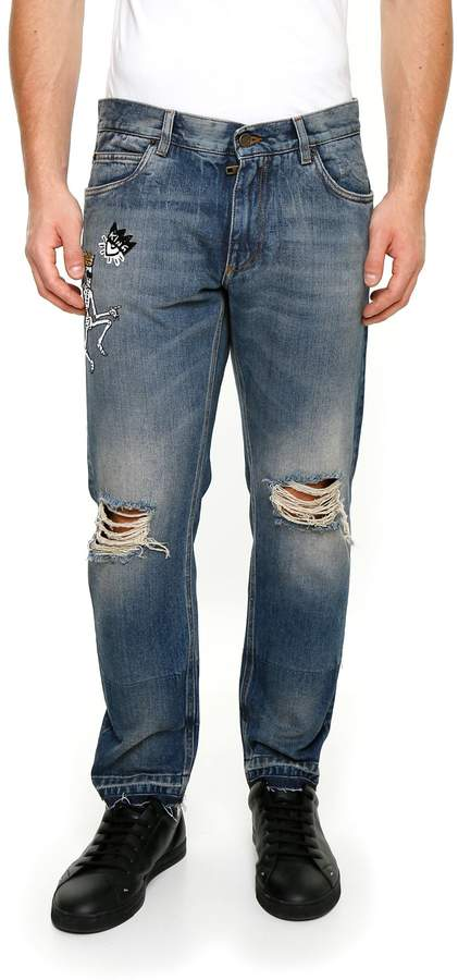Dolce & Gabbana Embroidered Jeans