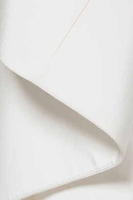 Rosie Assoulin Whoopsy Daisy Asymmetric Ruffled Silk-charmeuse Gown - White
