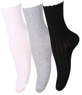 Levante Scallop Edge Sock 3pp