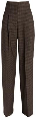 Proenza Schouler High-Waist Check Trousers