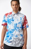 Hurley Prospect Tie-Dyed Short Sleeve Button Up Shirt