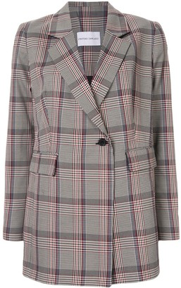 Strateas Carlucci Houndstooth-Check Pleated Blazer