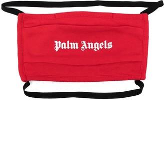 Palm Angels Logo-Print Face Mask