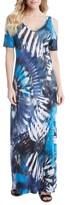 Karen Kane Women's Print Cold Shoulder Maxi Dress