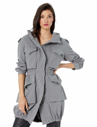 Norma Kamali Women's Hooded Cargo Jacket