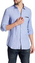 Diesel Asak Long Sleeve Slim Fit Linen Shirt