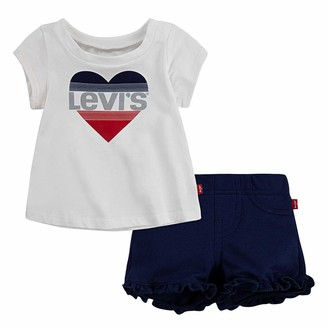 Levi's Graphic Tee with Knit Shorts White
