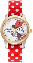 Disney Disney's Minnie Mouse Women's Two Tone Polka Dot Reversible Watch
