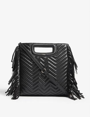 Maje M quilted leather shoulder bag
