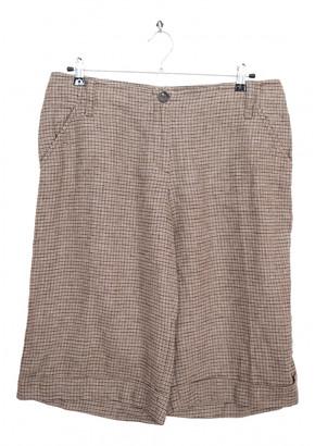 Max Mara Weekend Brown Cloth Shorts