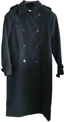 Sandro Spring Summer 2019 Navy Cotton Trench coats