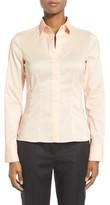 BOSS Women's Bashina Cotton Blend Poplin Shirt