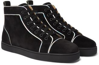 Christian Louboutin Louis Orlato Suede High-Top Sneakers